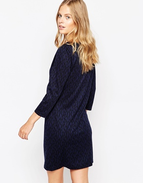 photo Long Sleeve Pencil Dress by Soaked in Luxury, color Navy - Image 2