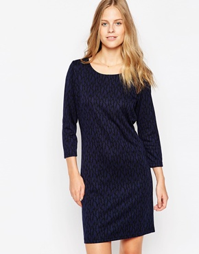 photo Long Sleeve Pencil Dress by Soaked in Luxury, color Navy - Image 1