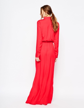 photo Twill Maxi Dress by Splendid, color Paprika - Image 2