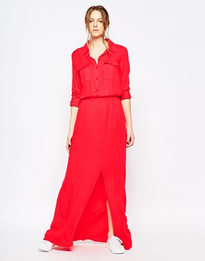 photo Twill Maxi Dress by Splendid, color Paprika - Image 1