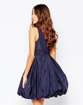 photo Darla Puffball Dress In Blue by STUDIO 75, color Evening Blue - Image 2