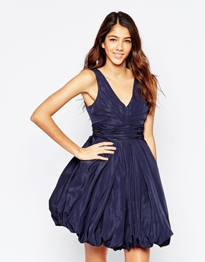 photo Darla Puffball Dress In Blue by STUDIO 75, color Evening Blue - Image 1