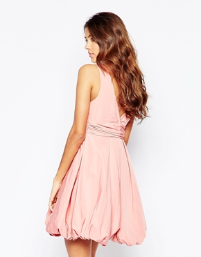 photo Darla Puffball Dress In Pink by STUDIO 75, color Rose Dawn - Image 2