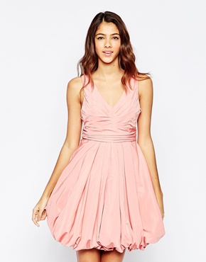 photo Darla Puffball Dress In Pink by STUDIO 75, color Rose Dawn - Image 1