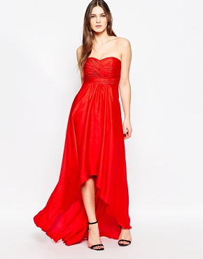photo Goldie Strapless Maxi Dress by STUDIO 75, color Barbados Cherry - Image 2