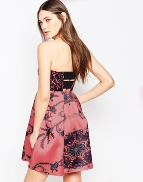 photo Paisley Floral Strapless Mini Dress by STUDIO 75, color All-Over Print - Image 2