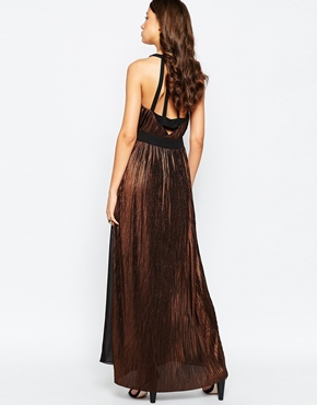 photo Maxi Dress with Metallic Inserts by STUDIO 75 Tall, color Black Bronze - Image 2