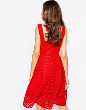 photo Skater Dress by STUDIO 75 Tall, color Red - Image 2