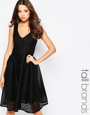 photo Skater Dress by STUDIO 75 Tall, color Black - Image 1
