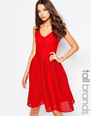 photo Skater Dress by STUDIO 75 Tall, color Red - Image 1