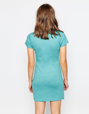photo Born In 1980 Short Sleeve Dress by Stussy, color Oceana - Image 2