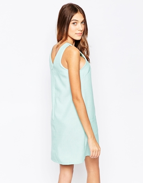 photo Shift Dress with Pocket Detail by Style London, color Mint - Image 2