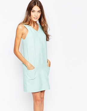 photo Shift Dress with Pocket Detail by Style London, color Mint - Image 1