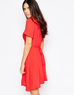 photo Tea Dress by Style London, color Red - Image 2