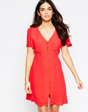 photo Tea Dress by Style London, color Red - Image 1