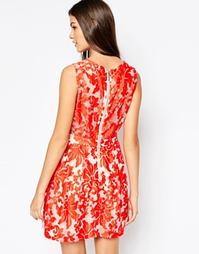 photo Firebird Lace Dress by Stylestalker, color Red - Image 2