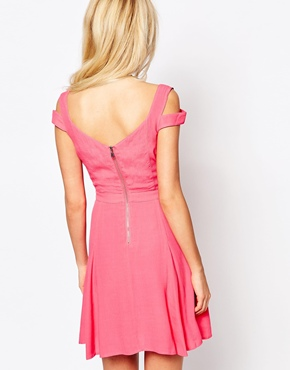 photo Graduation Dress with Cut Out Detail by Stylestalker, color Rose - Image 2