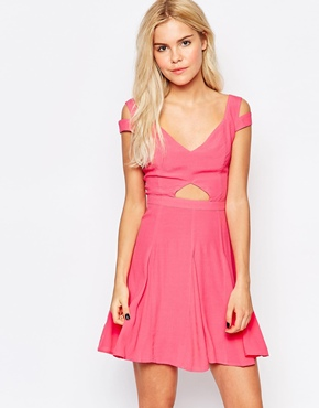 photo Graduation Dress with Cut Out Detail by Stylestalker, color Rose - Image 1
