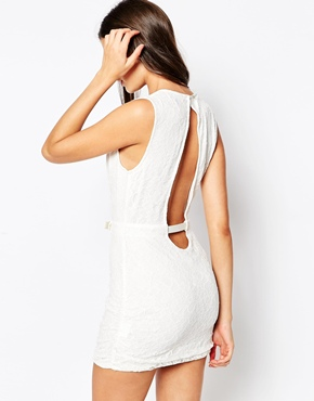 photo Mustang Dress with Deep Plunge by Stylestalker, color Ivory - Image 2