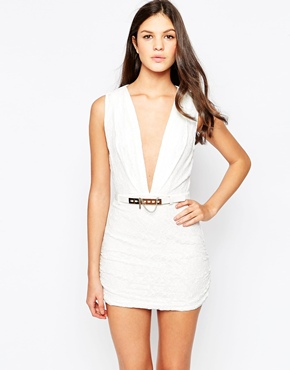 photo Mustang Dress with Deep Plunge by Stylestalker, color Ivory - Image 1