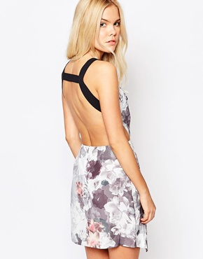 photo Sweetheart Floral Dress with Cut Outs by Stylestalker, color Multi - Image 2