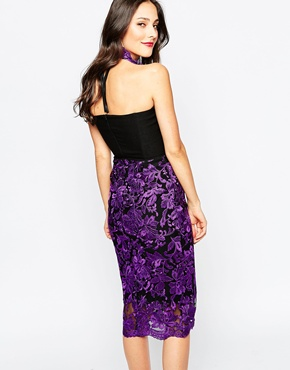 photo Chandra Midi Dress by The Crystal Collection by Vesper, color Purple - Image 2