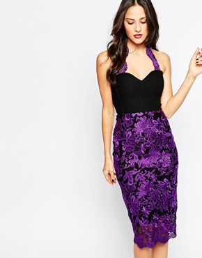 photo Chandra Midi Dress by The Crystal Collection by Vesper, color Purple - Image 1