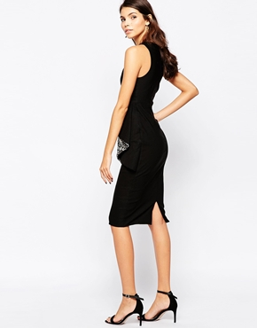 photo Dominque Midi Dress by The Crystal Collection by Vesper, color Black Ivory - Image 2