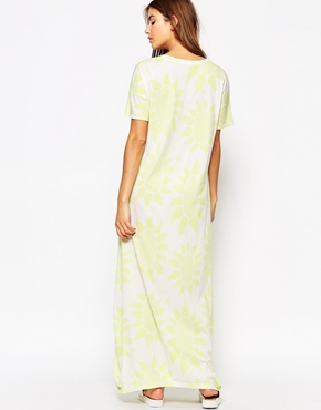photo Kabuki Floral Tunic Dress by The Furies, color White - Image 2