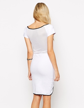 photo Bae Dress with Mesh Back by This Is A Love Song, color White Black - Image 2