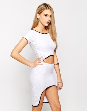 photo Bae Dress with Mesh Back by This Is A Love Song, color White Black - Image 1