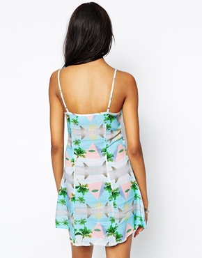 photo Bali Cami Dress by This Is A Love Song, color Pyramid Print - Image 2