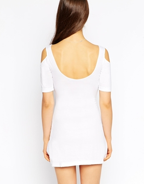 photo Cold Shoulder Jersey Dress by Tired Of Tokyo, color White - Image 2
