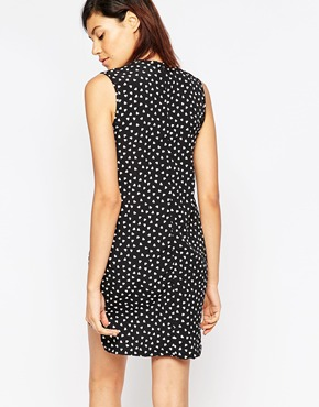 photo Heart Polka Dot Dress by Tired Of Tokyo, color Black - Image 2
