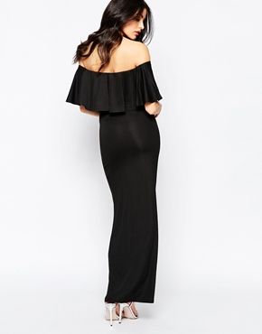 photo Maxi Dress with Frill Top by Twin Sister, color Black - Image 2