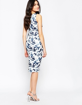photo Printed Shift Dress by Twin Sister, color Blue Marline - Image 2