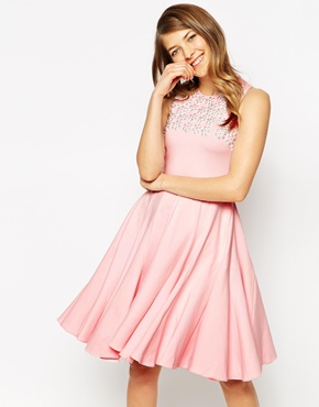 photo Daisy Dress with Hand Sewn Embellishment by Ukulele, color Pink - Image 1