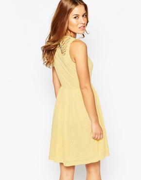 photo Summer Dress with Lace Back by Vero Moda Petite, color French Vanilla - Image 2