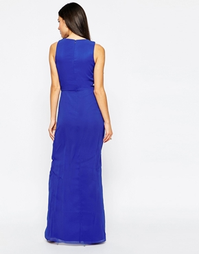 photo Amberley Maxi Dress by VLabel London, color Blue - Image 2