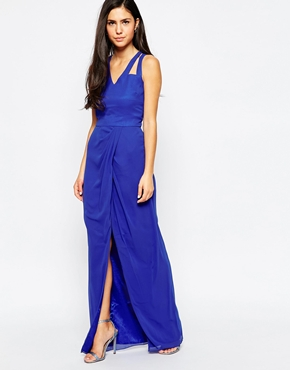 photo Amberley Maxi Dress by VLabel London, color Blue - Image 1