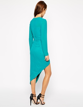 photo Mayfair Wrap Dress by VLabel London, color Turquoise - Image 2