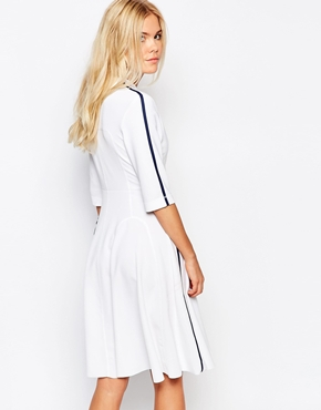 photo Janis Dress by Wood Wood, color White Navy - Image 2