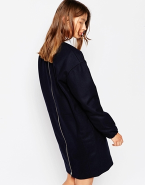 photo Oversized Navy Dress by Wood Wood, color Navy - Image 2