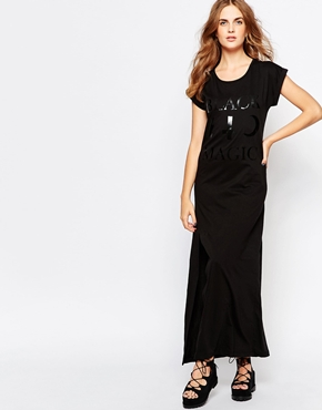 photo Halloween Black Magic Jersey Maxi Dress by Worn By, color Black - Image 1