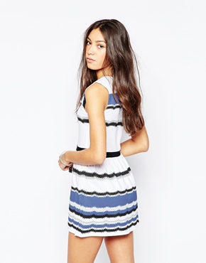 photo Mixed Stripe Skater Dress by Your Eyes Lie, color Multi - Image 2