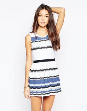 photo Mixed Stripe Skater Dress by Your Eyes Lie, color Multi - Image 1