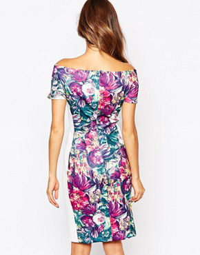 photo Flora Panelled Midi Dress by Amy Childs, color Multi - Image 2