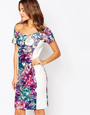photo Flora Panelled Midi Dress by Amy Childs, color Multi - Image 1