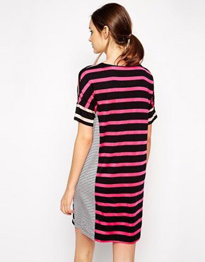 photo Choice Cut Striped Dress by Antipodium, color Neutral - Image 2