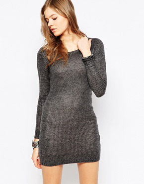 photo Max Knitted Dress by Blend She, color Dark Grey Mel - Image 1
